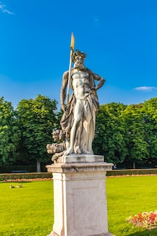 Neptune statue at nymphenburg palace in munich