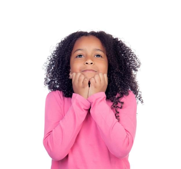Nervous little girl