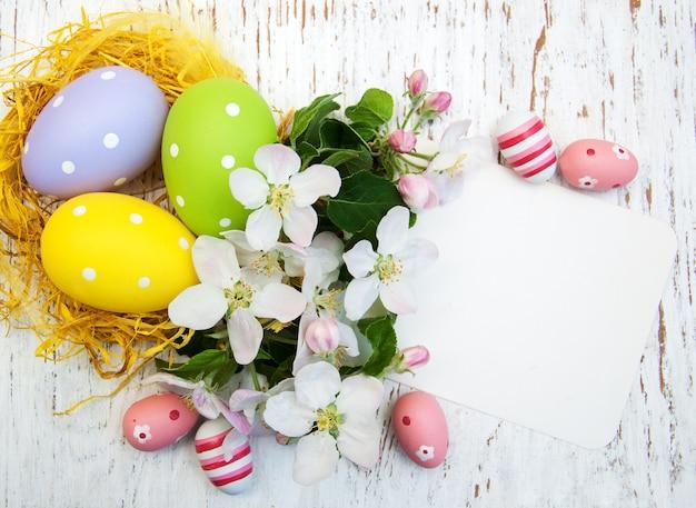 부활절 달걀과 둥지