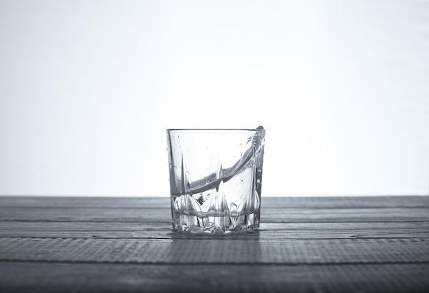 Net tasty water in a glass.