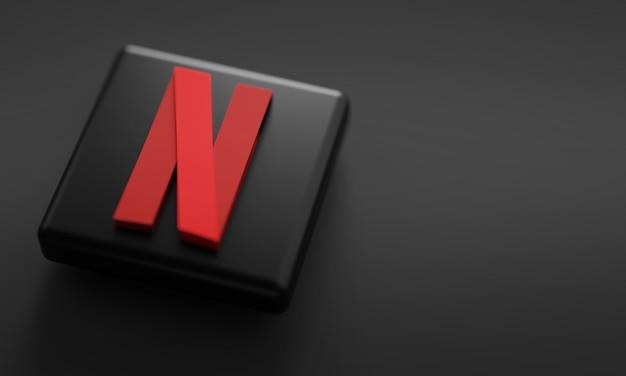 Netflix 3d рендеринга крупным планом.