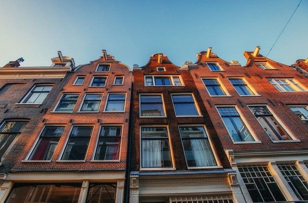 네덜란드 암스테르담의 역사 센터.