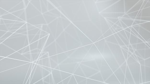 Сетевая анимация подключила точки на белом фоне. 3d иллюстрация