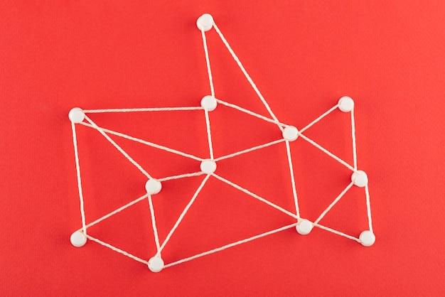 Концепция сети с видом сверху резьбы