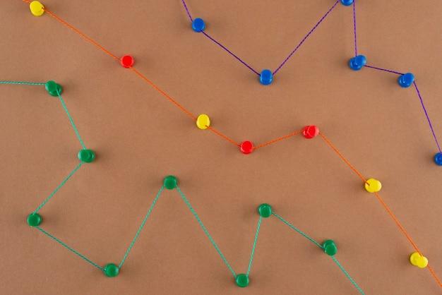Concetto di rete con vista sopra il thread