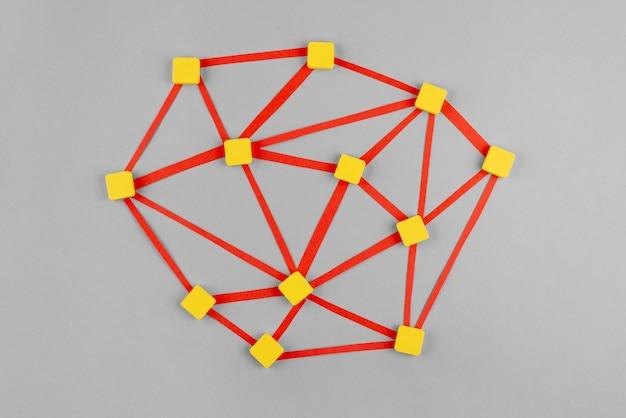 黄色の四角でネットワークの概念
