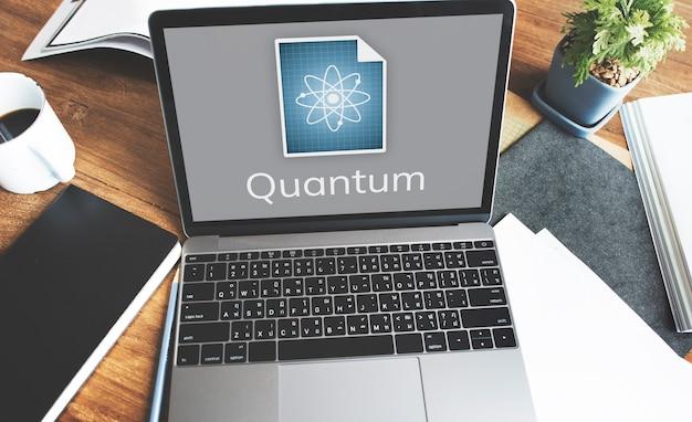 ノートパソコンの画面上のネットワーク接続グラフィックオーバーレイの背景