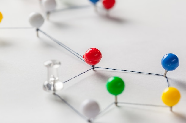 Network with pins