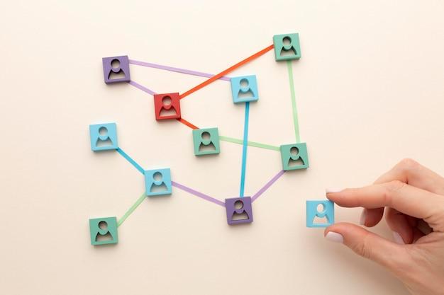 네트워킹 개념 정물 배열