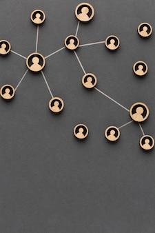 Disposizione della natura morta del concetto di rete