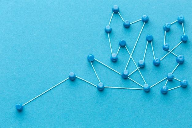 Networking concept still life arrangement