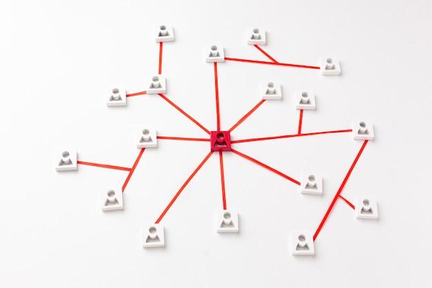 ネットワーキングの概念静物の品揃え