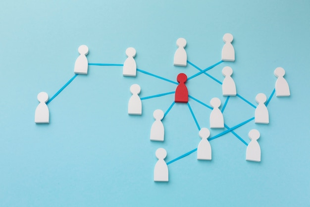 Networking concept still life assortment
