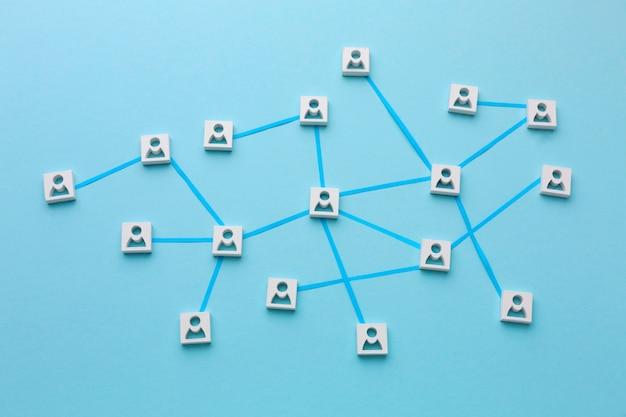 Assortimento di natura morta del concetto di rete