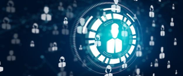 ネットワーキングの人々人材マーケティングネットワークコミュニティチームワークとソーシャルネットワークの概念