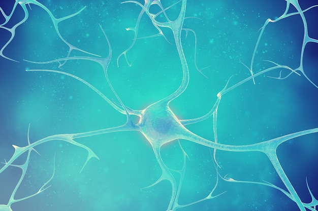 Neurons in the beautiful. 3d illustration of a high quality
