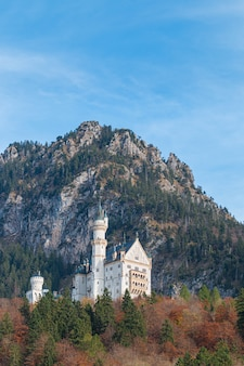 Neuschwanstein castle in autumn, fussen, bavaria, germany