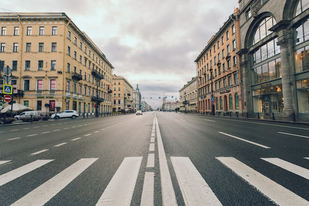 Nevsky prospect in saint petersburg, russia.