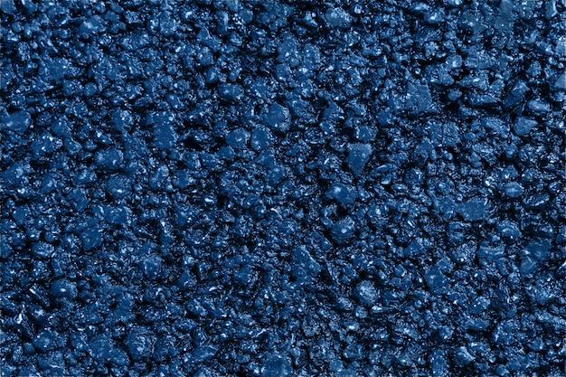 새로운 파란색 아스팔트 질감 된 배경 평면 누워 가까이
