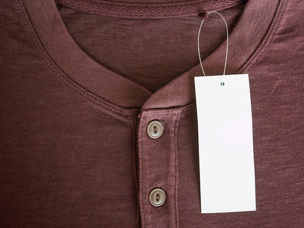 New brown shirt with blank price tag