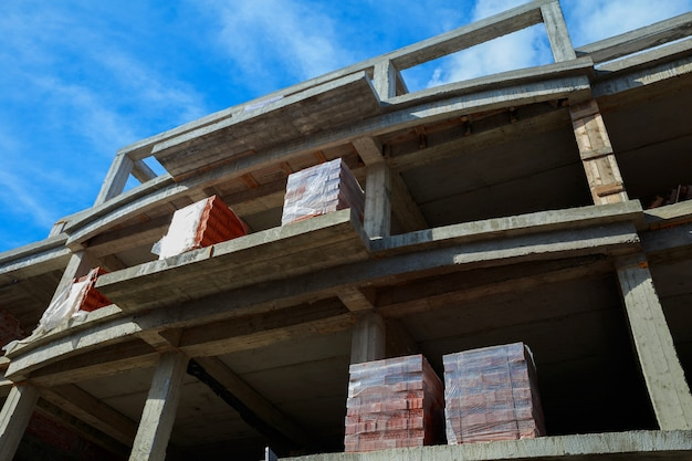New building for building a brick house