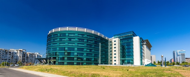 New building of national libraty of romania in bucharest