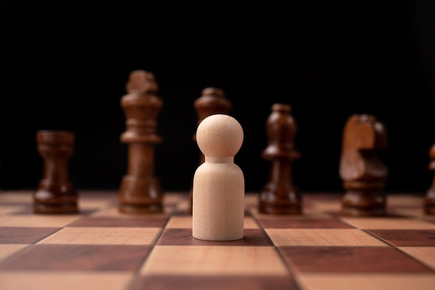 New business leader confrontation with king chess is a challenge for new business player, strategy and vision is key success.