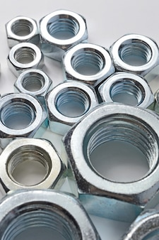 New chrome screw-nut of different sizes