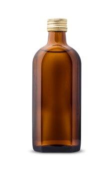 白地に濃い色の新しい、きれいな、空のガラス瓶