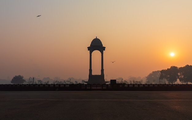 New dehli canopy near the india gate, sunset view.