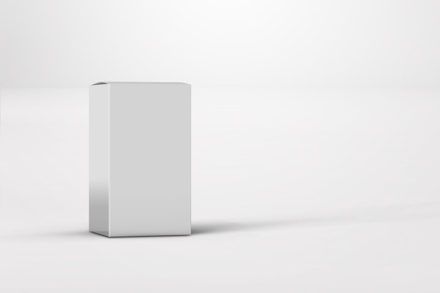 New design of glossy white box package isolated