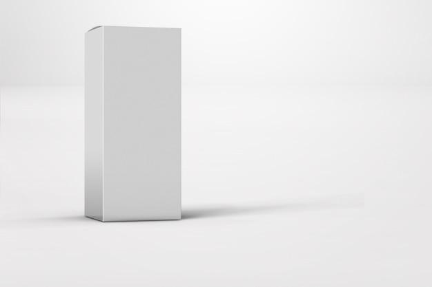 分離された光沢のある白いボックスパッケージの新しいデザイン