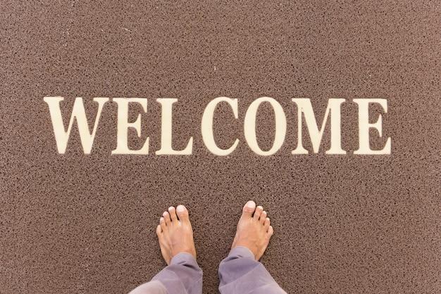 The new doormat of welcome text
