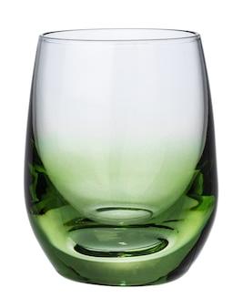 分離された新しい空のガラス