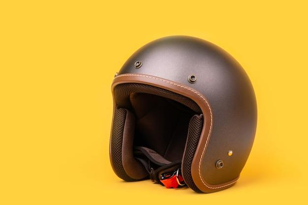 新しい灰色のビンテージヘルメット