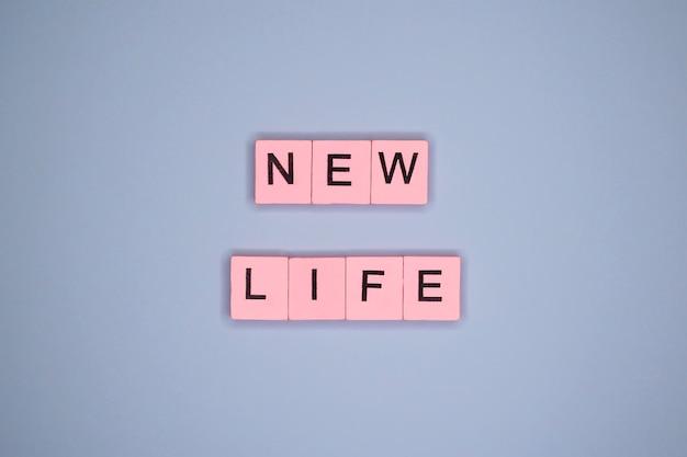새로운 삶. 동기 부여 포스터.