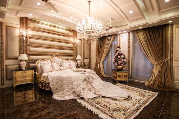New luxury bedroom with bed