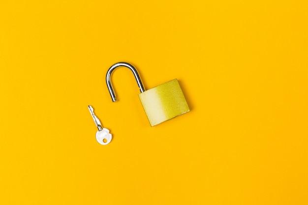 New metal padlock