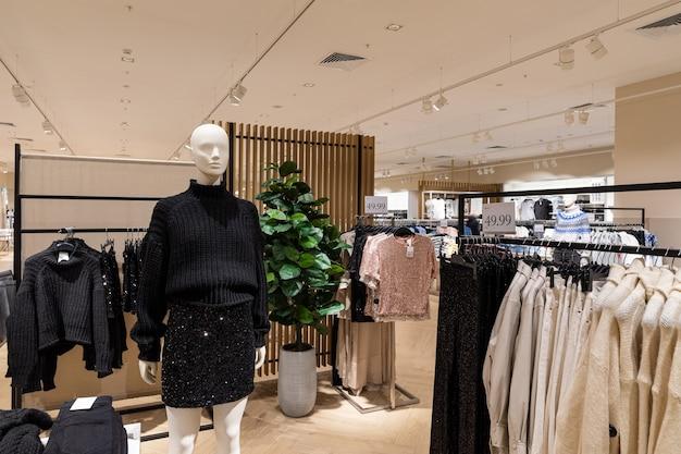 New modern store interior luxury
