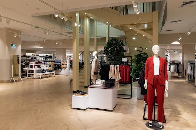New modern store interior luxury.