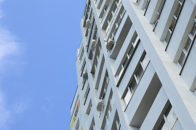 New multy storey residential building and blue sky