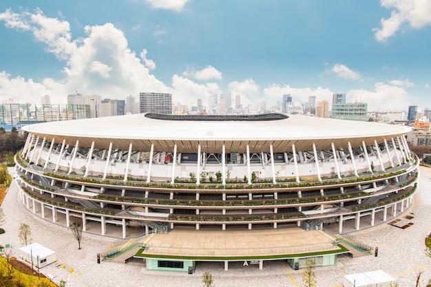 東京オリンピック2020に向けて建設中の新しい国立競技場、東京-2020年1月26日
