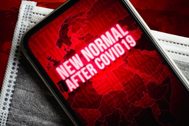 The new normal after covid-19 concept.