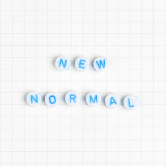 New normal text beads typography