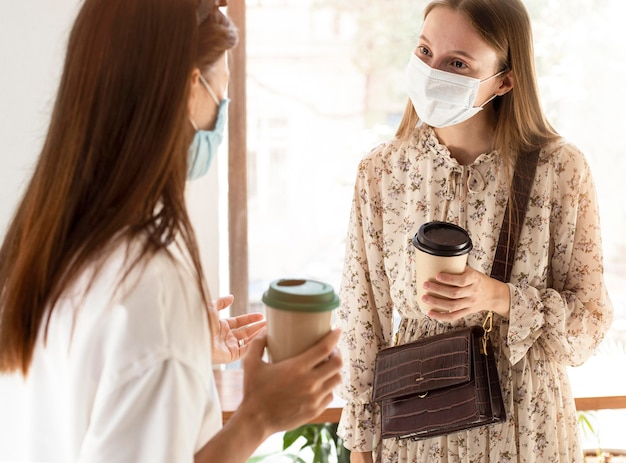 New normal with face mask and safety measures