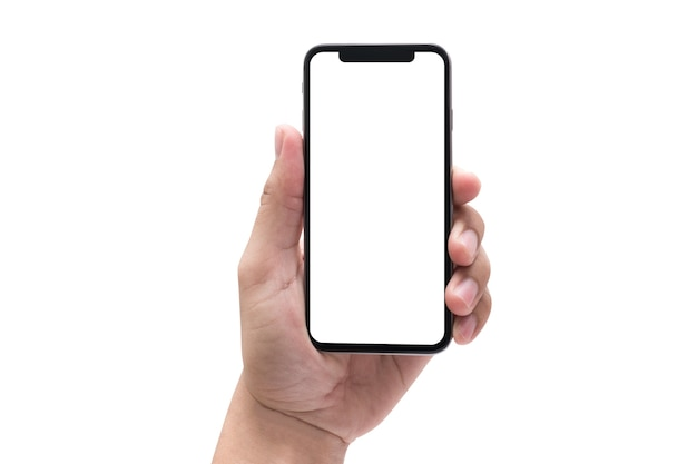 New phone technology smartphone with blank screen