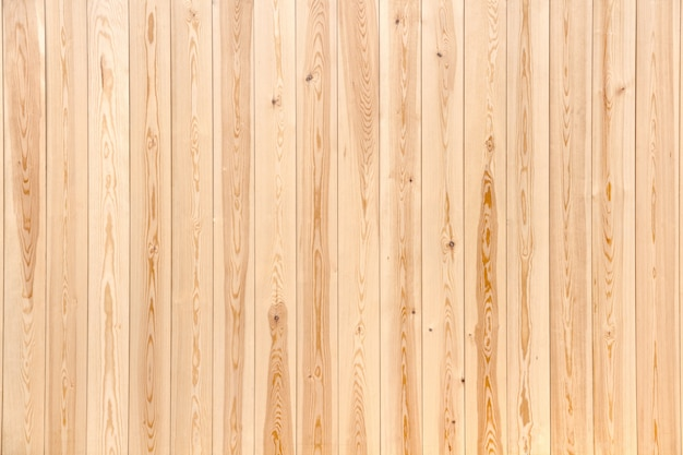 New planks laid evenly close up