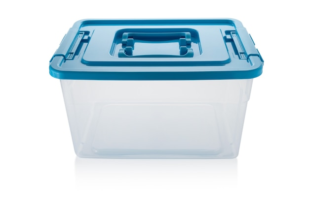 白の新しいプラスチックの箱