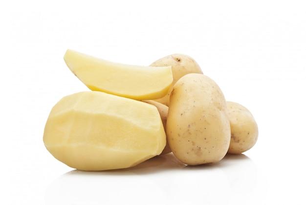 New potatoes isolated