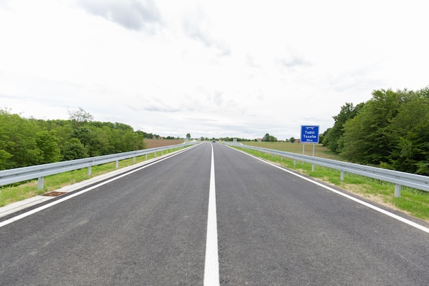New recently built highway in brcko district, bosnia and herzegovina
